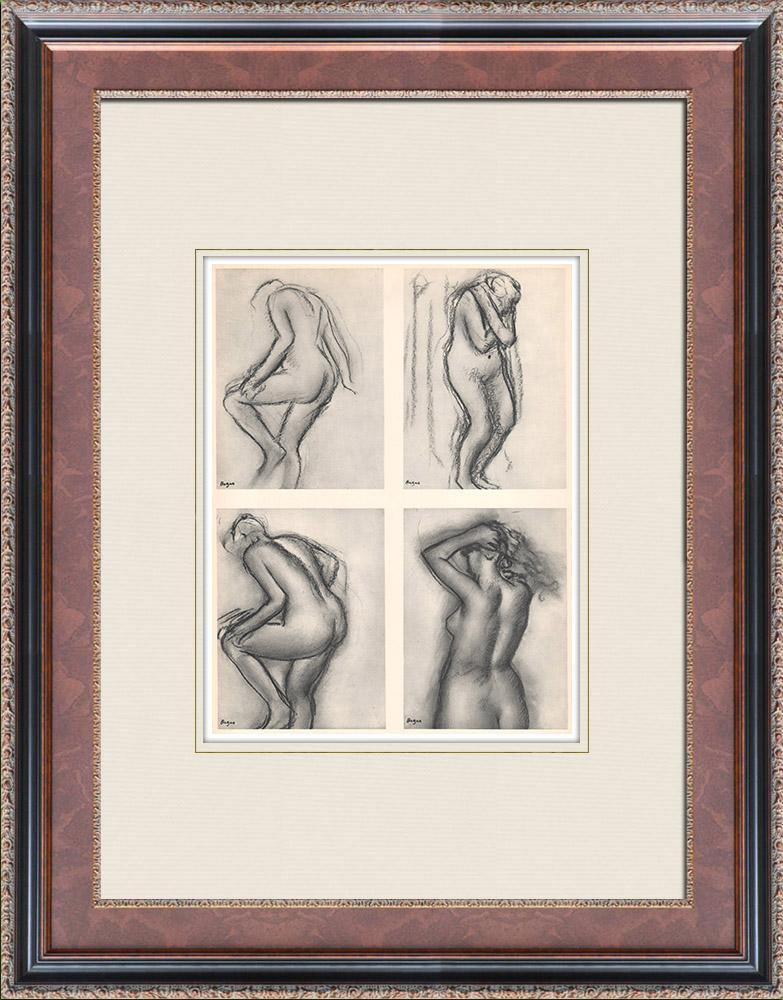 Gravures Anciennes & Dessins   Nu Féminin - Quatre Etudes (Edgar Degas)   Héliogravure   1933