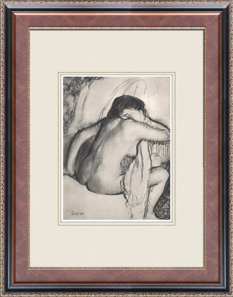 Gravures Anciennes & Dessins | Nu Féminin - Baigneuse s'Essuyant (Edgar Degas) | Héliogravure | 1933