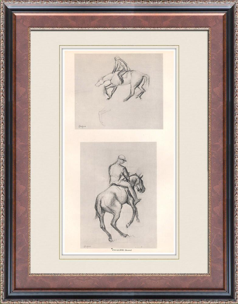 Gravures Anciennes & Dessins | Cavaliers (Edgar Degas) | Héliogravure | 1933