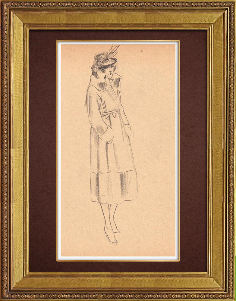 Gravures Anciennes & Dessins | Dessin de Mode - France - Années Folles 5/37 | Dessin | 1930