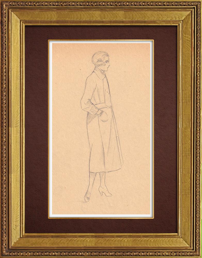 Gravures Anciennes & Dessins | Dessin de Mode - France - Années Folles 6/37 | Dessin | 1930