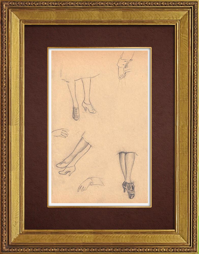 Gravures Anciennes & Dessins   Dessin de Mode - France - Années Folles 10/37   Dessin   1930