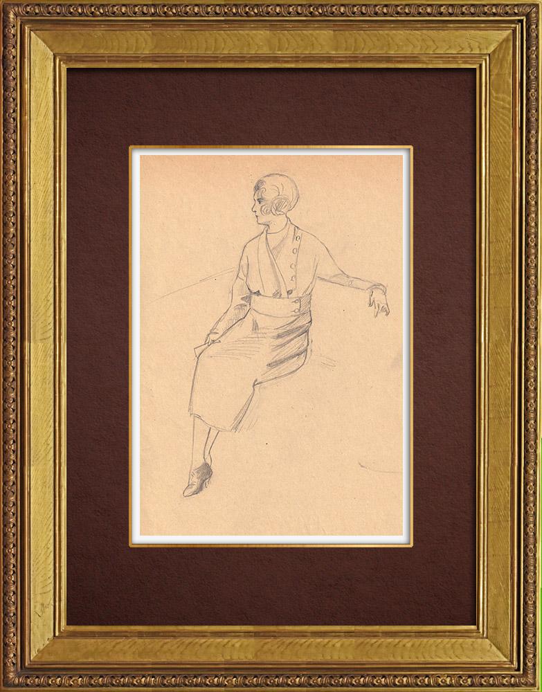 Gravures Anciennes & Dessins   Dessin de Mode - France - Années Folles 13/37   Dessin   1930