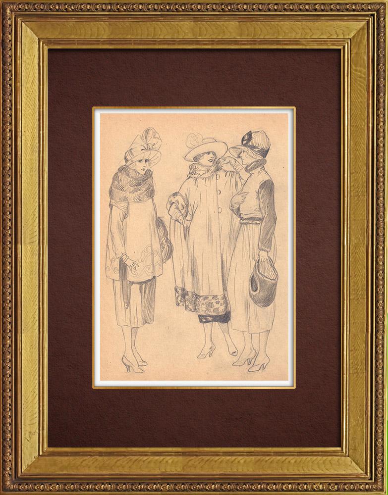Gravures Anciennes & Dessins | Dessin de Mode - France - Années Folles 16/37 | Dessin | 1930