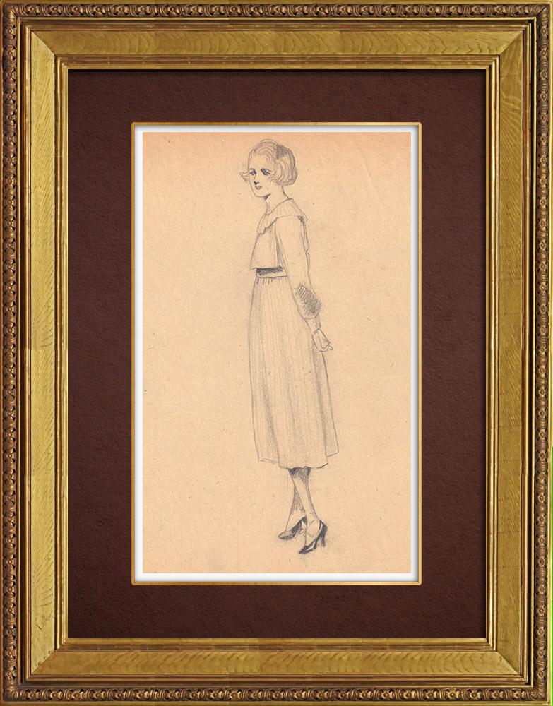 Gravures Anciennes & Dessins | Dessin de Mode - France - Années Folles 22/37 | Dessin | 1930