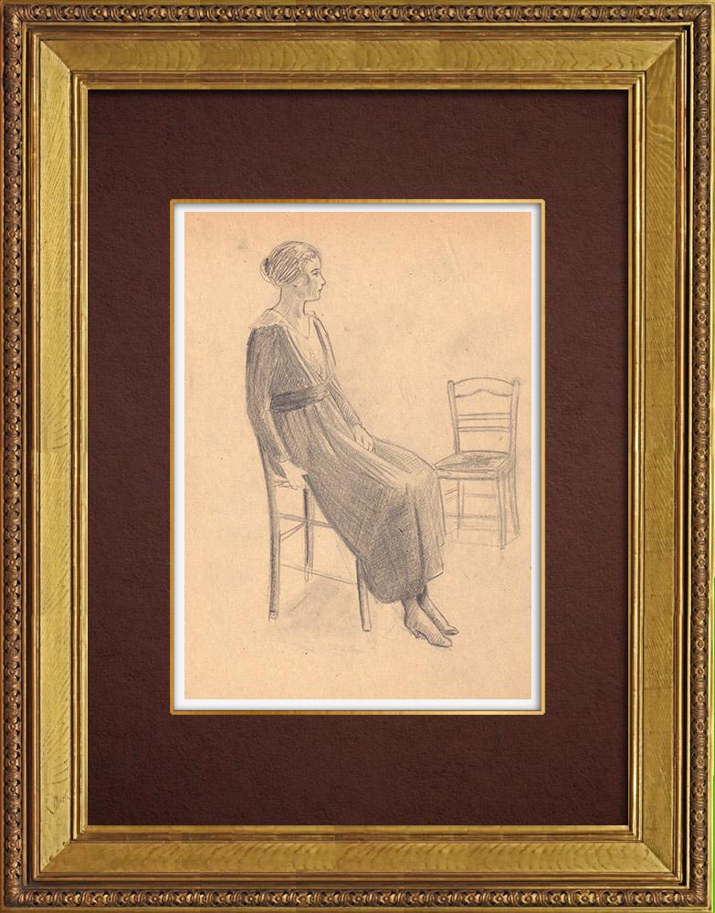 Gravures Anciennes & Dessins | Dessin de Mode - France - Années Folles 23/37 | Dessin | 1930