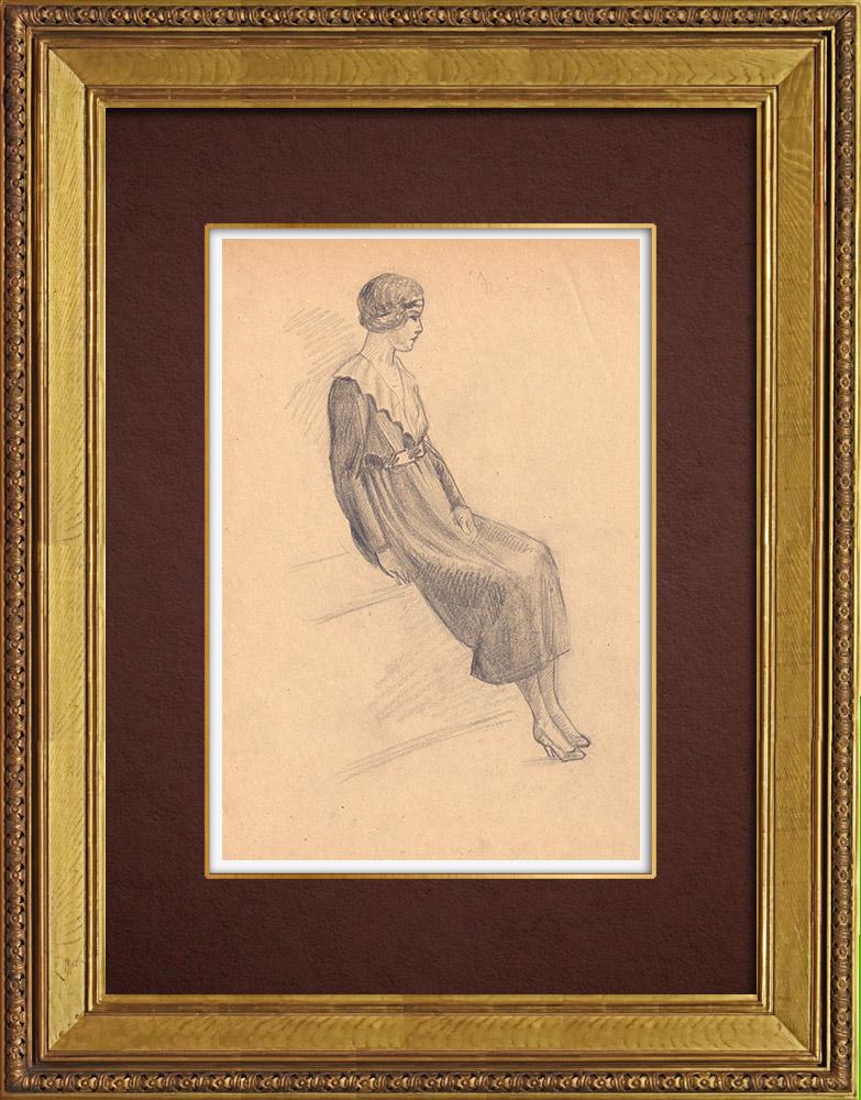 Gravures Anciennes & Dessins | Dessin de Mode - France - Années Folles 24/37 | Dessin | 1930