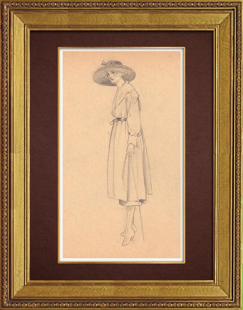 Gravures Anciennes & Dessins   Dessin de Mode - France - Années Folles 29/37   Dessin   1930