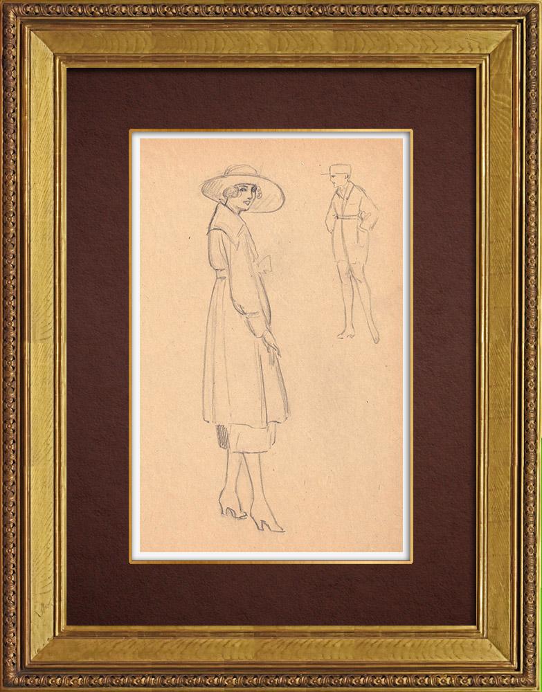 Gravures Anciennes & Dessins | Dessin de Mode - France - Années Folles 31/37 | Dessin | 1930