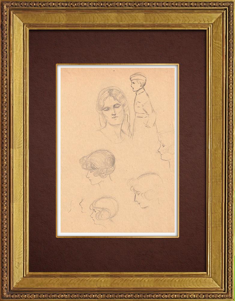 Gravures Anciennes & Dessins   Dessin de Mode - France - Années Folles 37/37   Dessin   1930
