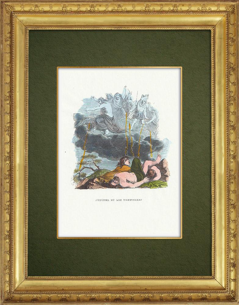 Gravures Anciennes & Dessins | Fables de La Fontaine - Jupiter et les Tonnerres | Gravure sur bois | 1859