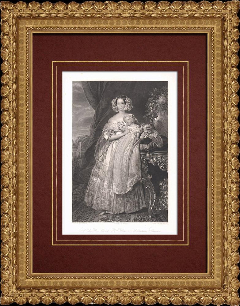 Gravures Anciennes & Dessins | Portrait de Hélène de Mecklembourg-Schwerin (1814-1858) | Taille-douce | 1838