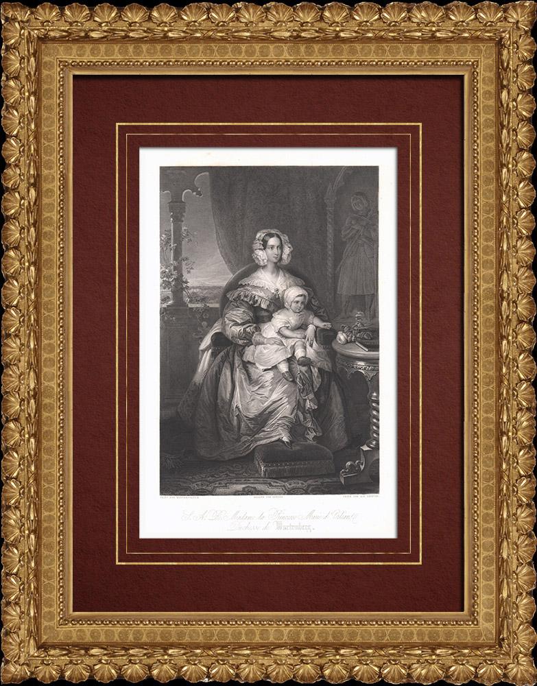 Gravures Anciennes & Dessins | Portrait de Marie d'Orléans (1813-1839) | Taille-douce | 1838
