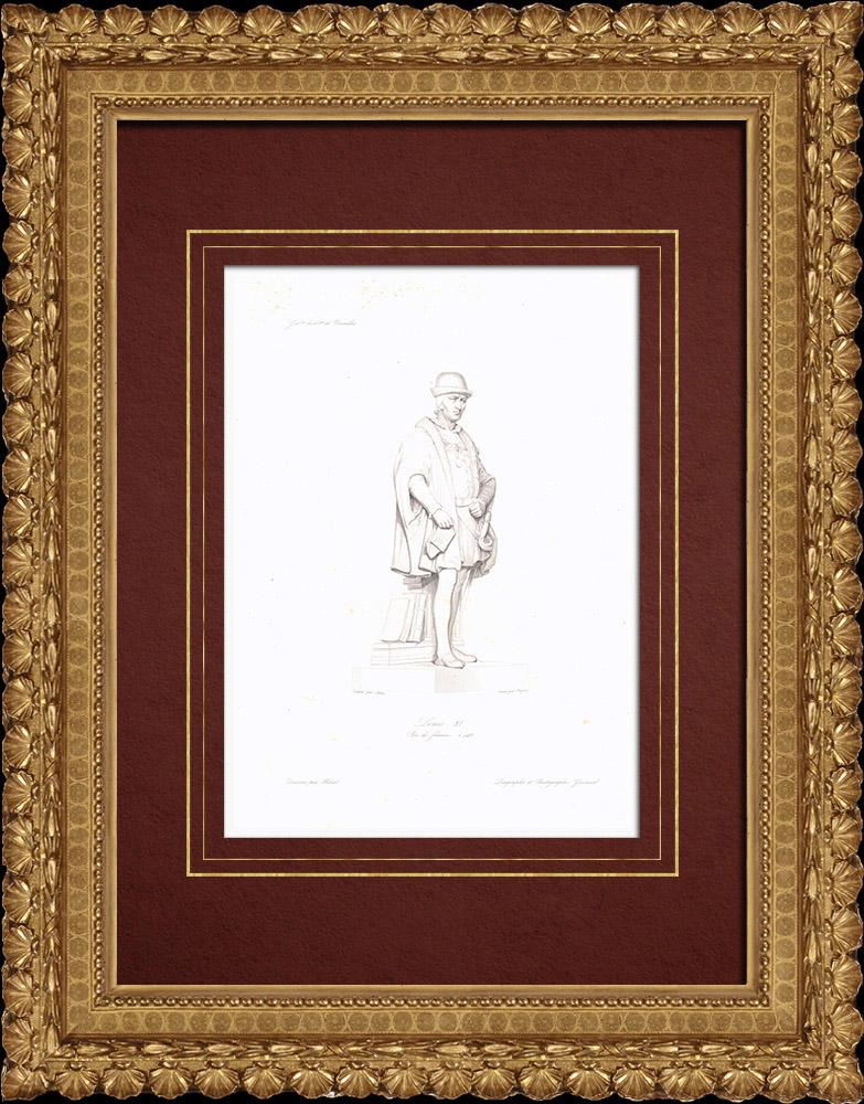 Gravures Anciennes & Dessins | Portrait de Louis XI (1423-1483) | Taille-douce | 1838