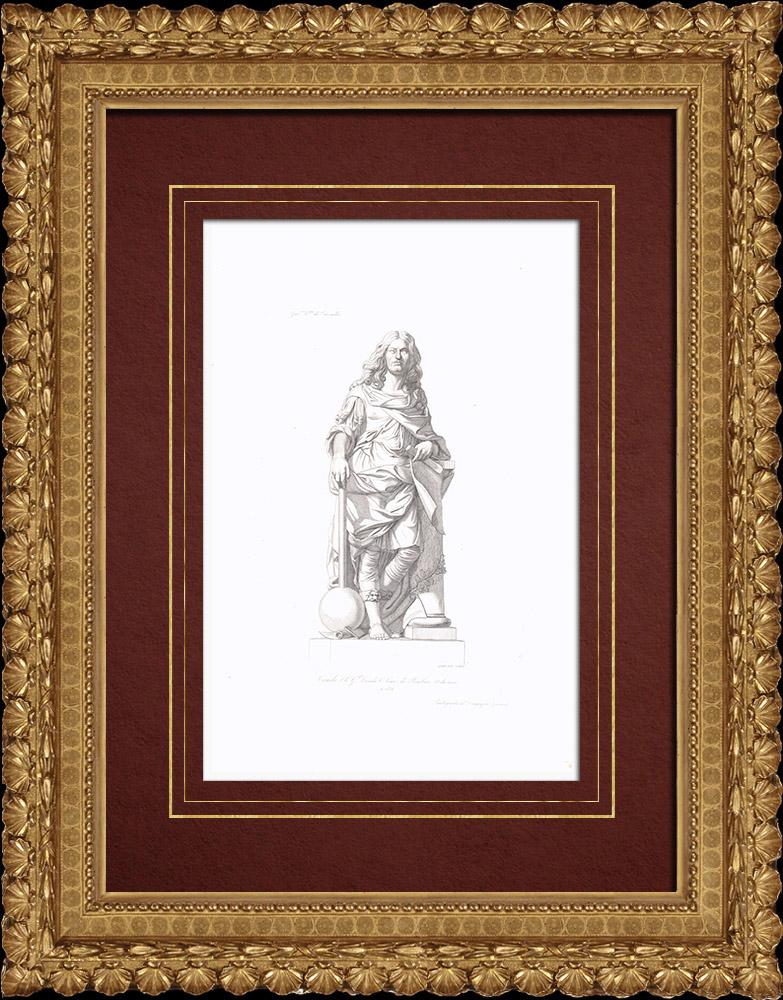 Gravures Anciennes & Dessins   Portrait de Louis II de Bourbon-Condé dit le Grand Condé (1621-1686)   Taille-douce   1838