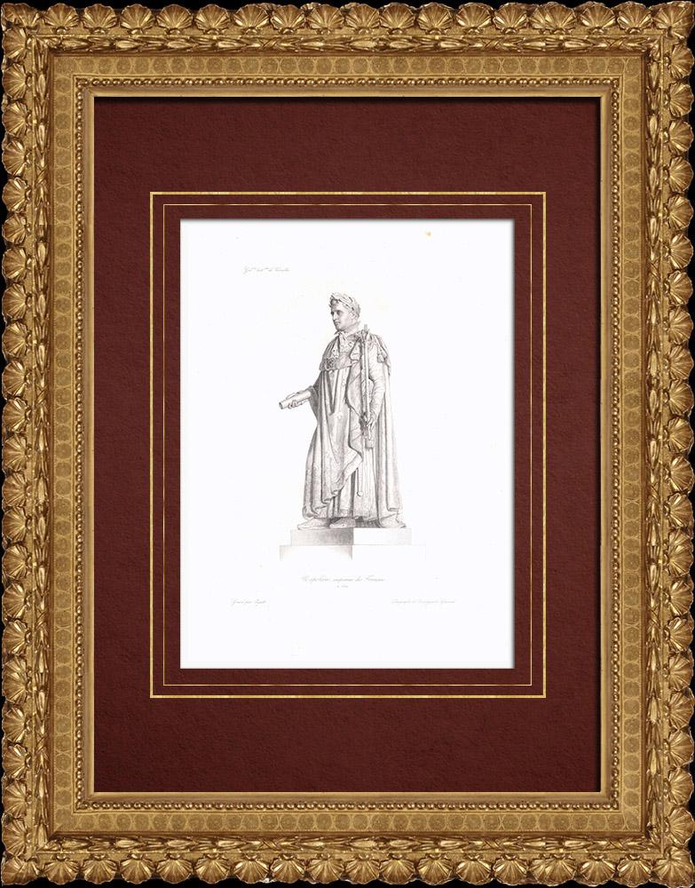 Gravures Anciennes & Dessins   Portrait de Napoléon - Empereur des Français (1769-1821)   Taille-douce   1838