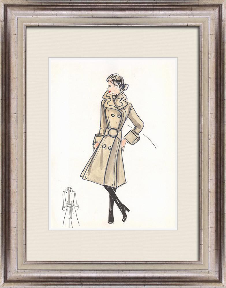 Gravures Anciennes & Dessins | Dessin de Mode - France - Paris - Années 1950/1960 8/47 | Dessin | 1960