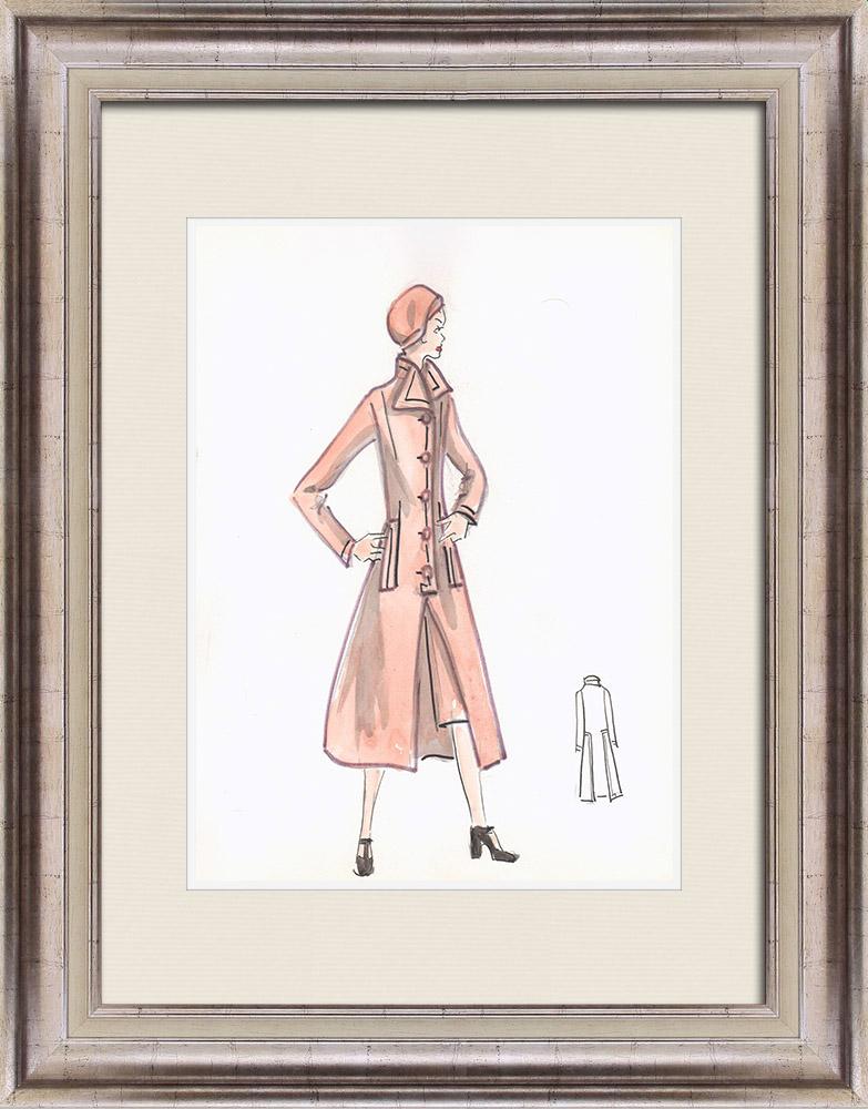Gravures Anciennes & Dessins | Dessin de Mode - France - Paris - Années 1950/1960 16/47 | Dessin | 1960
