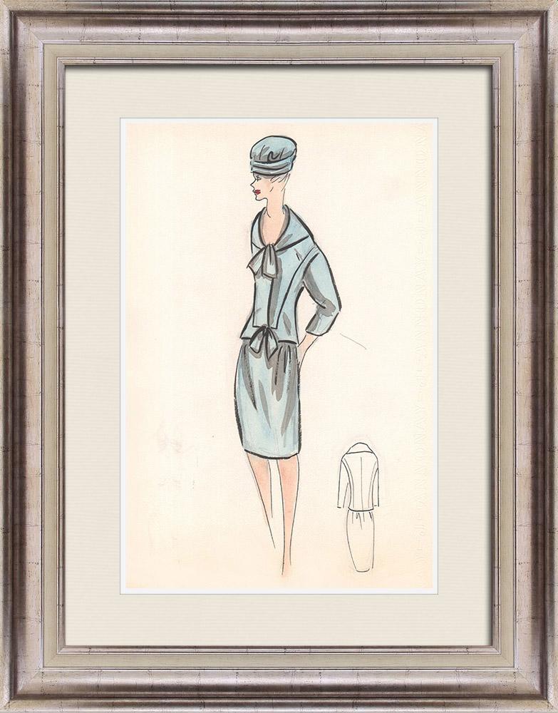 Gravures Anciennes & Dessins | Dessin de Mode - France - Paris - Années 1950/1960 25/47 | Dessin | 1960