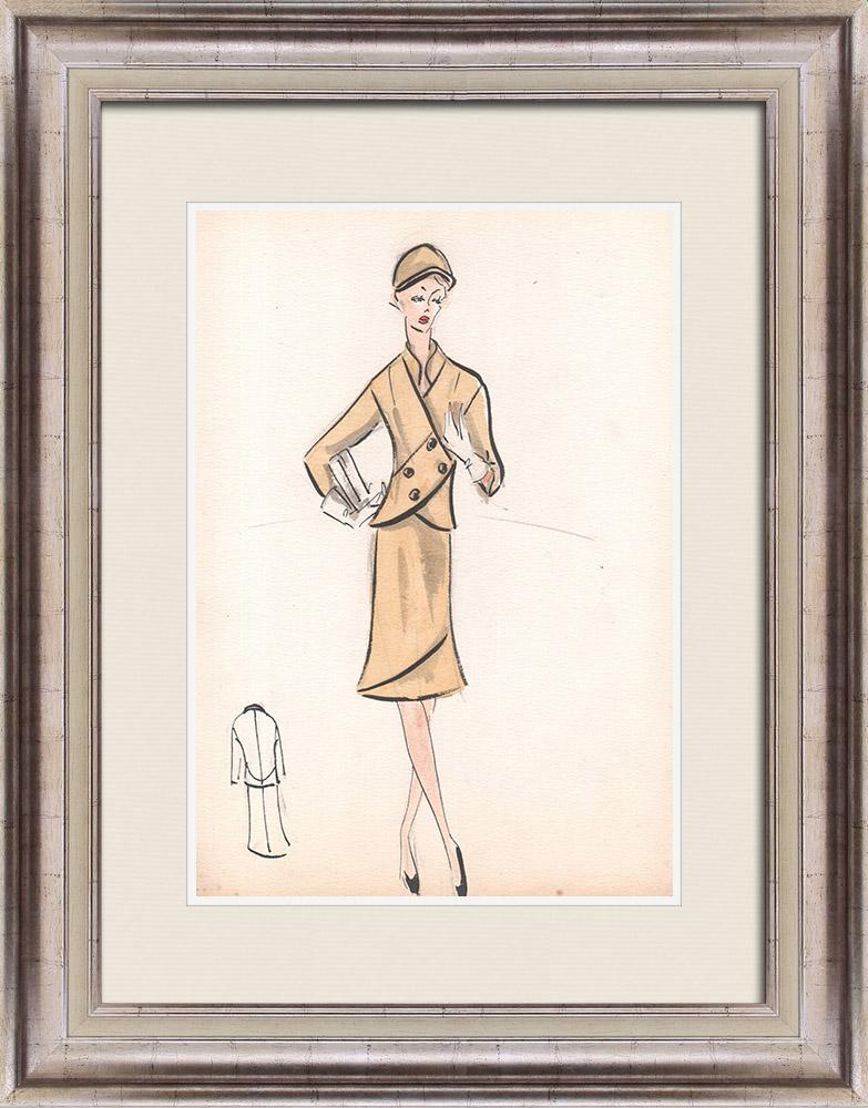 Gravures Anciennes & Dessins | Dessin de Mode - France - Paris - Années 1950/1960 35/47 | Dessin | 1960