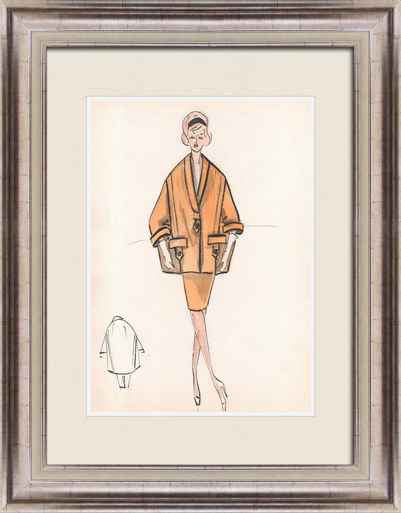 Gravures Anciennes & Dessins | Dessin de Mode - France - Paris - Années 1950/1960 36/47 | Dessin | 1960