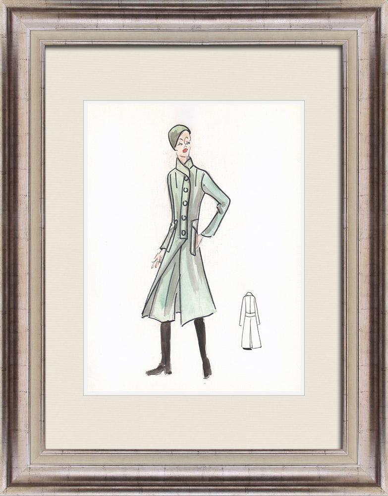 Gravures Anciennes & Dessins | Dessin de Mode - France - Paris - Années 1950/1960 37/47 | Dessin | 1960