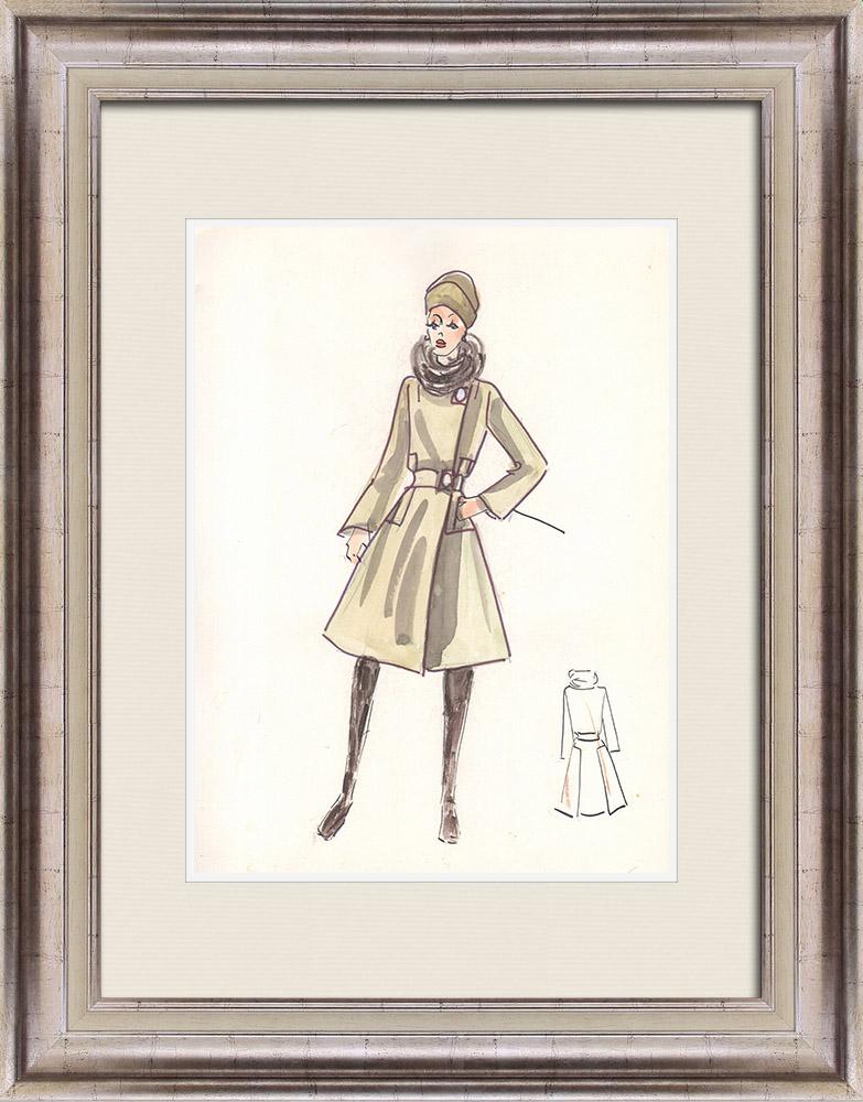 Gravures Anciennes & Dessins | Dessin de Mode - France - Paris - Années 1950/1960 45/47 | Dessin | 1960