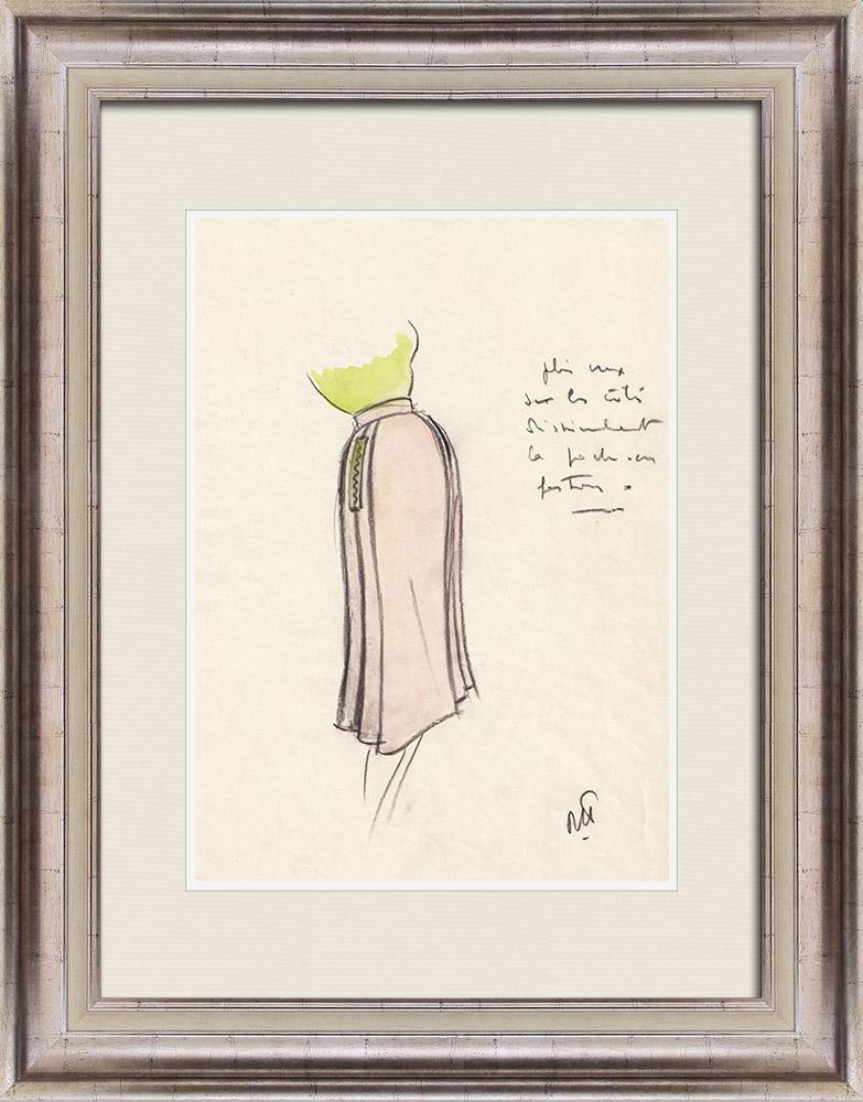 Gravures Anciennes & Dessins | Dessin de Mode - France - Paris - Jupe - Années 1950 6/12 | Dessin | 1950
