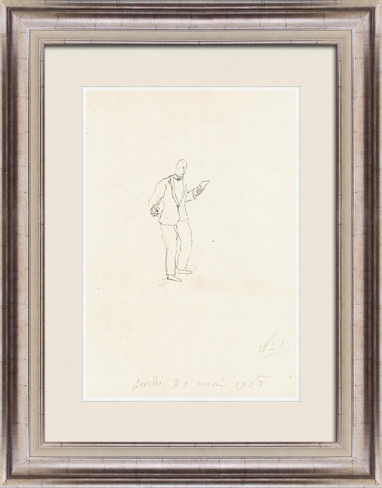 Gravures Anciennes & Dessins   Sport - Boxe 2/71   Lithographie   1928