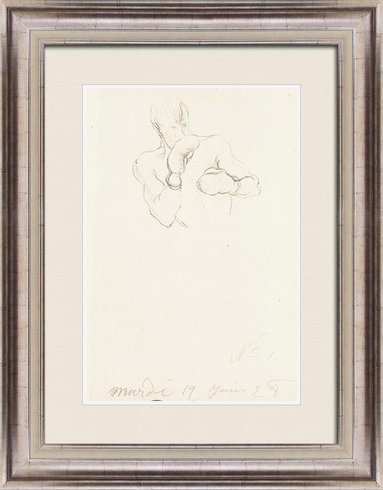 Gravures Anciennes & Dessins | Sport - Boxe 5/71 | Lithographie | 1928