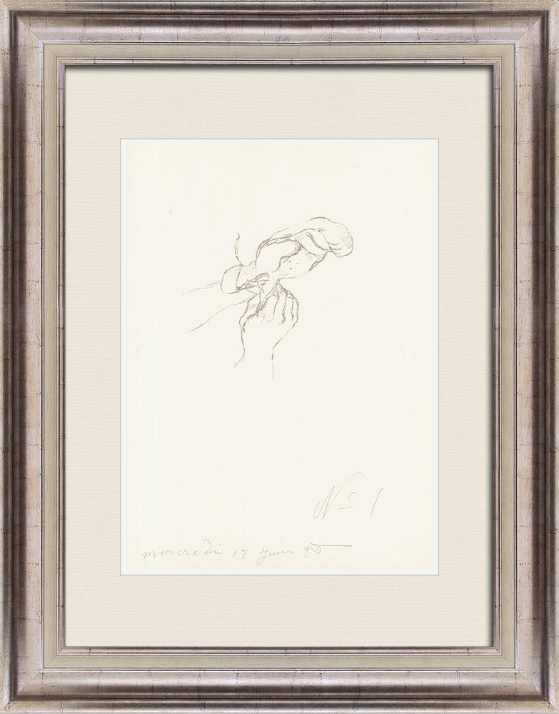 Gravures Anciennes & Dessins   Sport - Boxe 6/71   Lithographie   1928