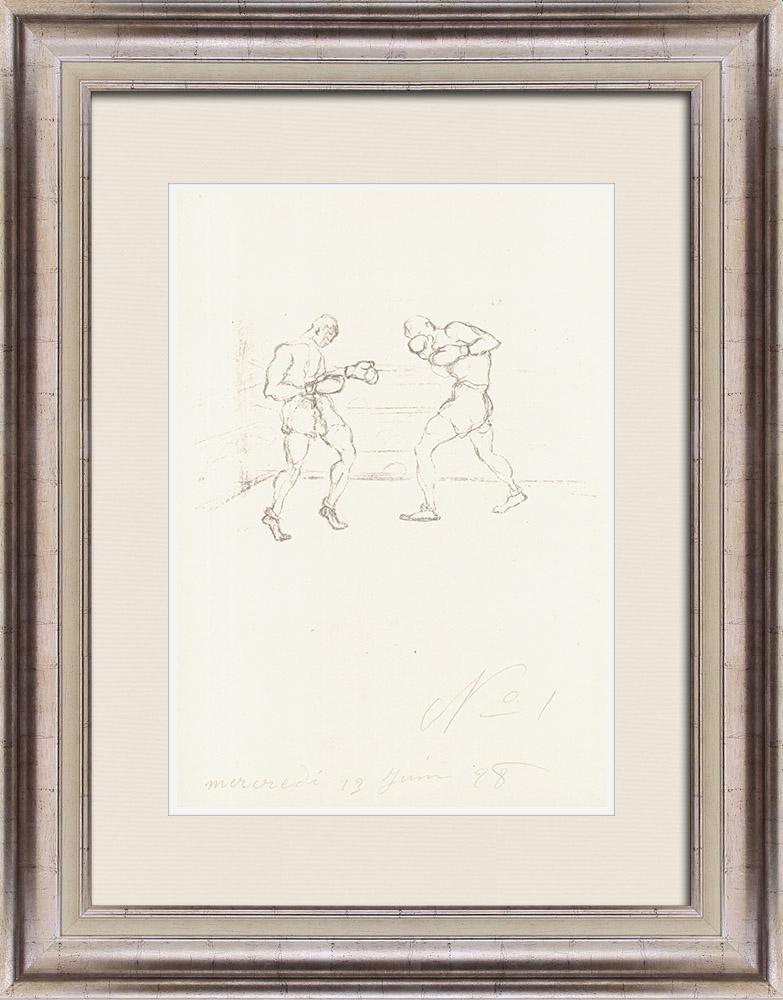 Gravures Anciennes & Dessins | Sport - Boxe 7/71 | Lithographie | 1928
