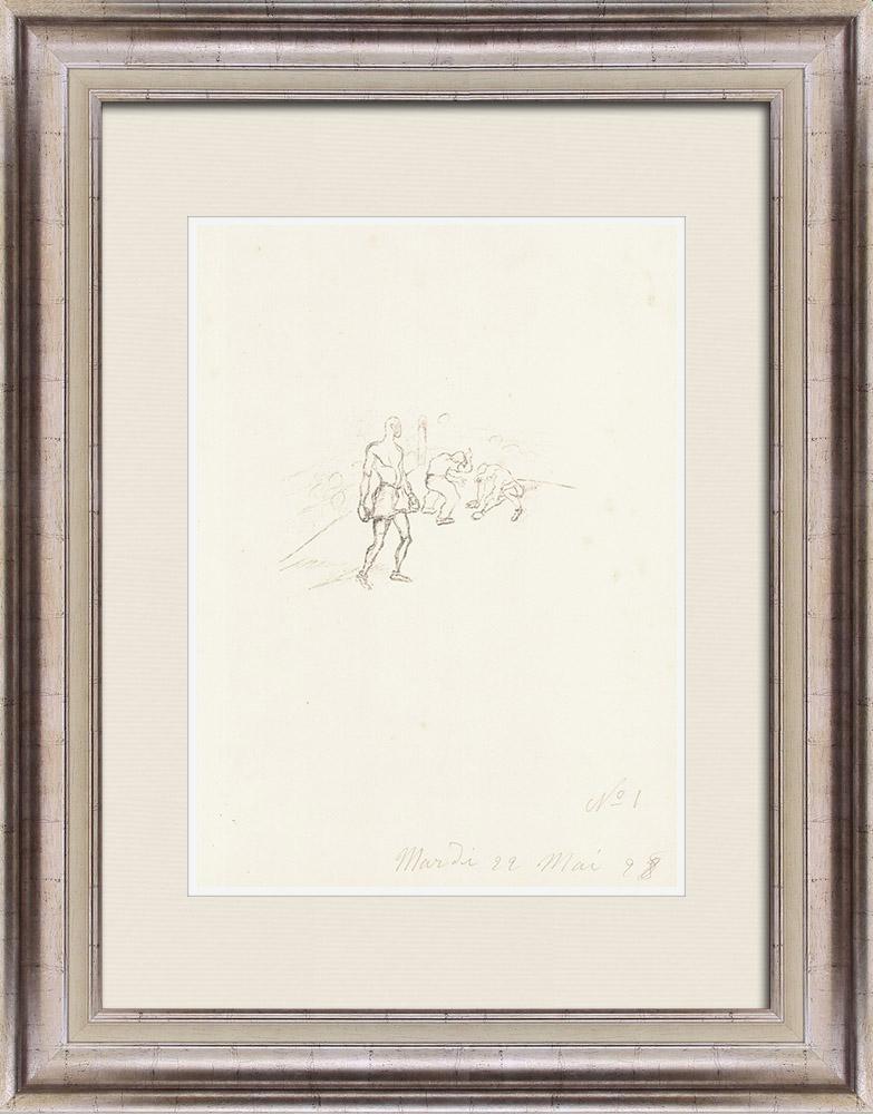 Gravures Anciennes & Dessins | Sport - Boxe 8/71 | Lithographie | 1928