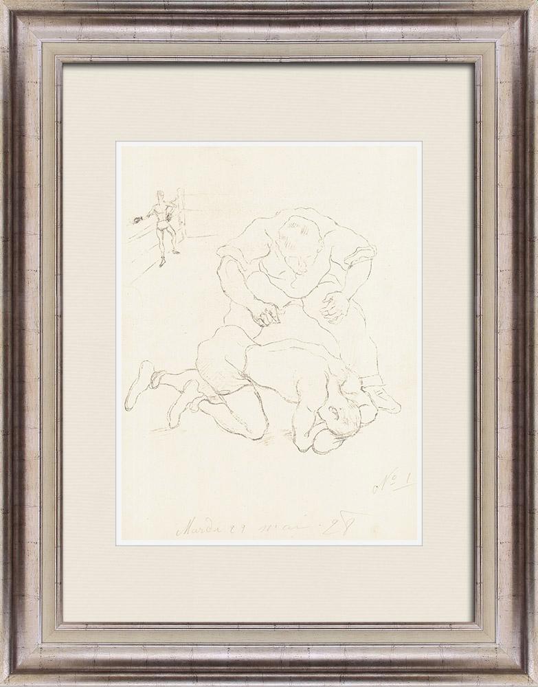 Gravures Anciennes & Dessins | Sport - Boxe 9/71 | Lithographie | 1928