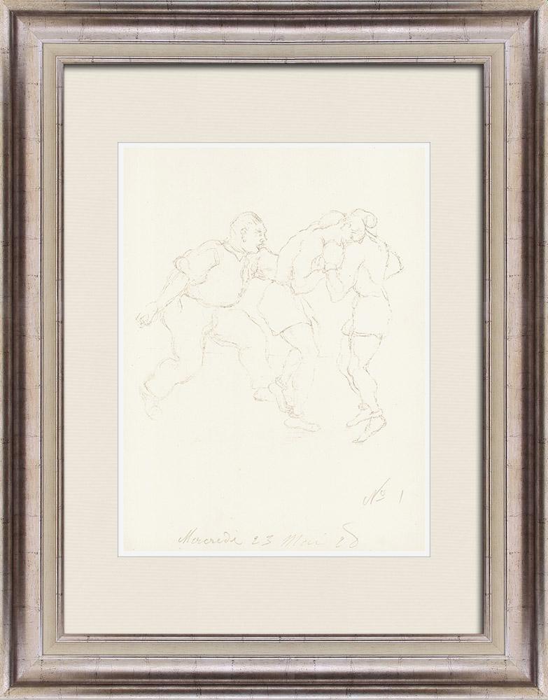 Gravures Anciennes & Dessins | Sport - Boxe 10/71 | Lithographie | 1928