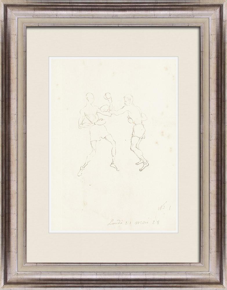 Gravures Anciennes & Dessins | Sport - Boxe 12/71 | Lithographie | 1928