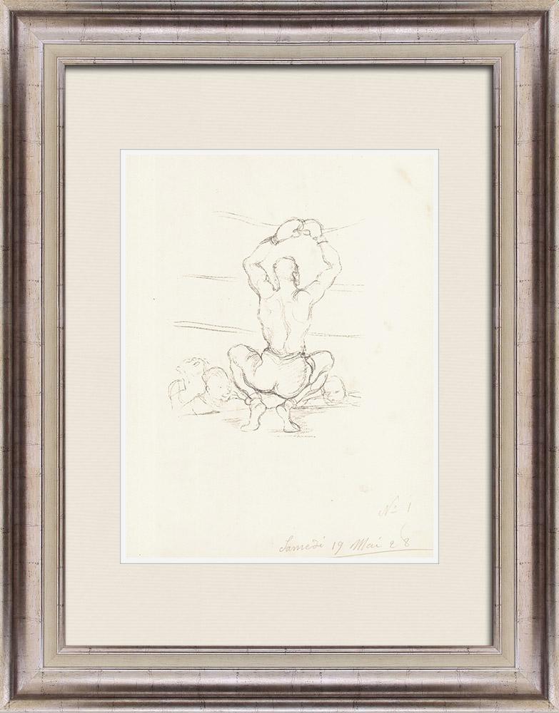 Gravures Anciennes & Dessins | Sport - Boxe 13/71 | Lithographie | 1928