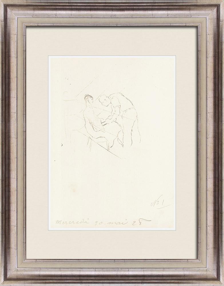 Gravures Anciennes & Dessins   Sport - Boxe 16/71   Lithographie   1928