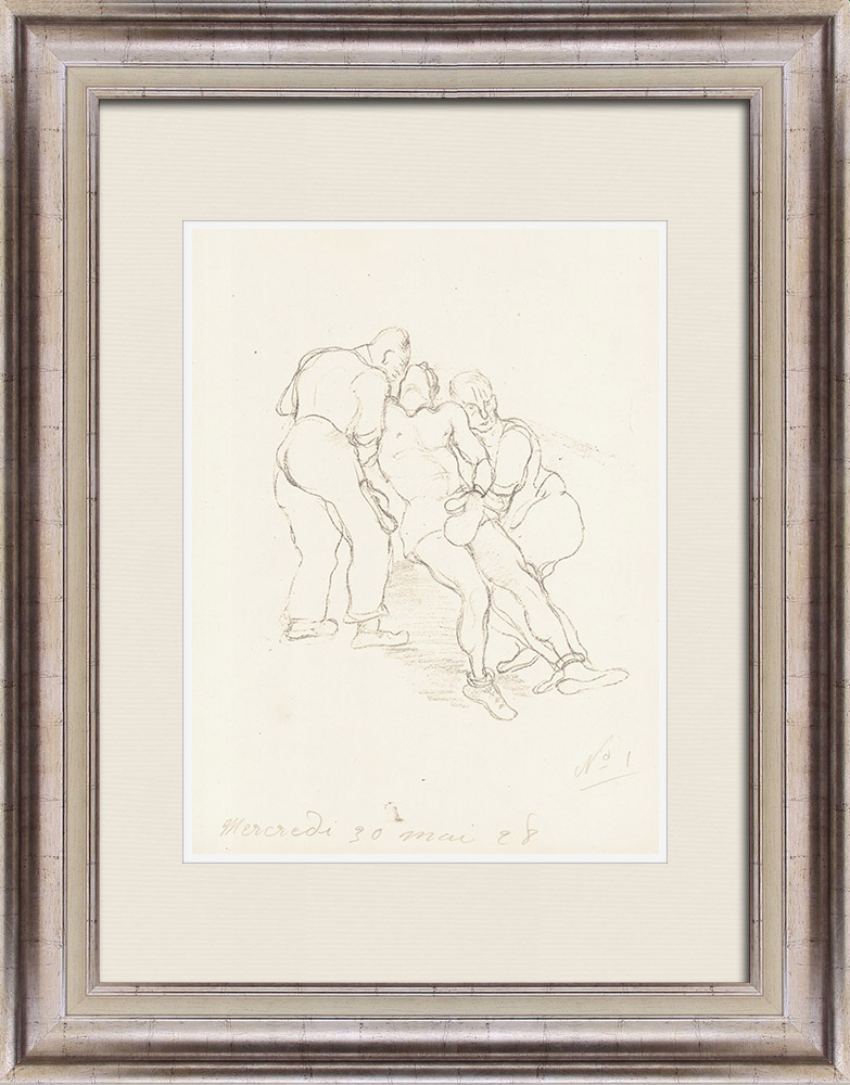 Gravures Anciennes & Dessins | Sport - Boxe 17/71 | Lithographie | 1928