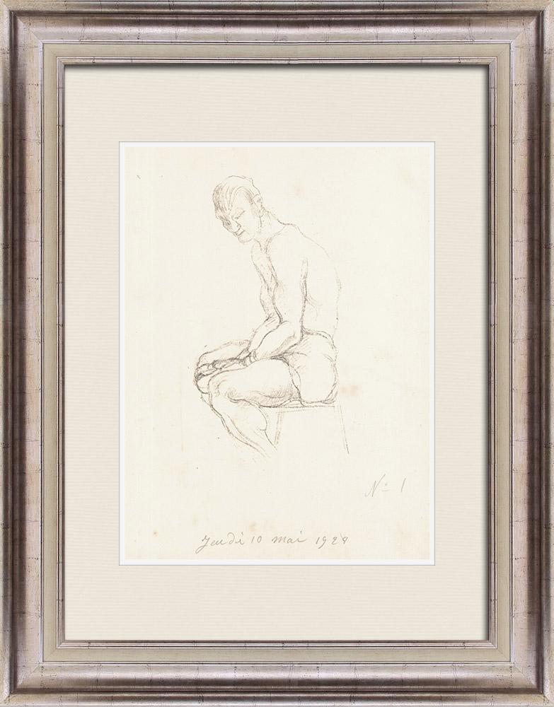 Gravures Anciennes & Dessins   Sport - Boxe 21/71   Lithographie   1928