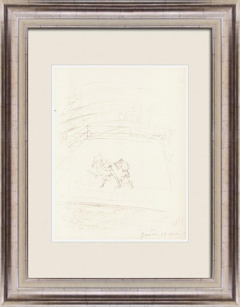 Gravures Anciennes & Dessins | Sport - Boxe 22/71 | Lithographie | 1928