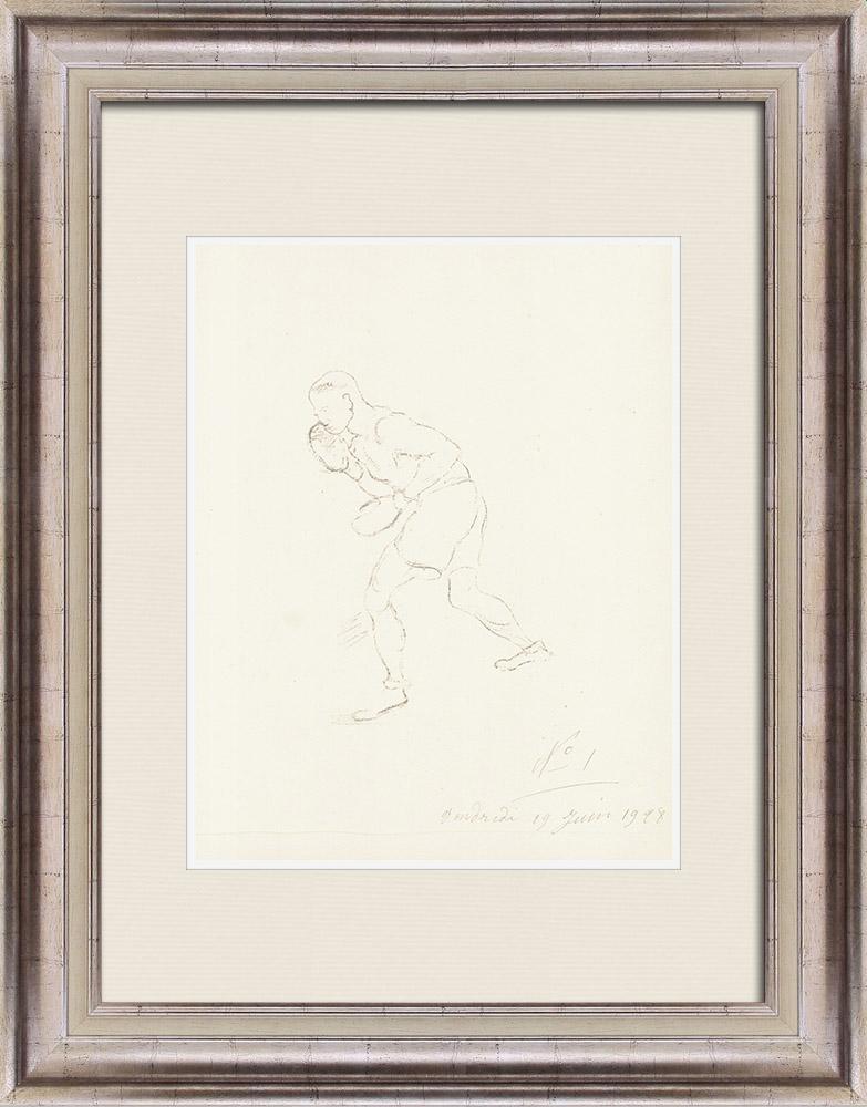 Gravures Anciennes & Dessins | Sport - Boxe 24/71 | Lithographie | 1928