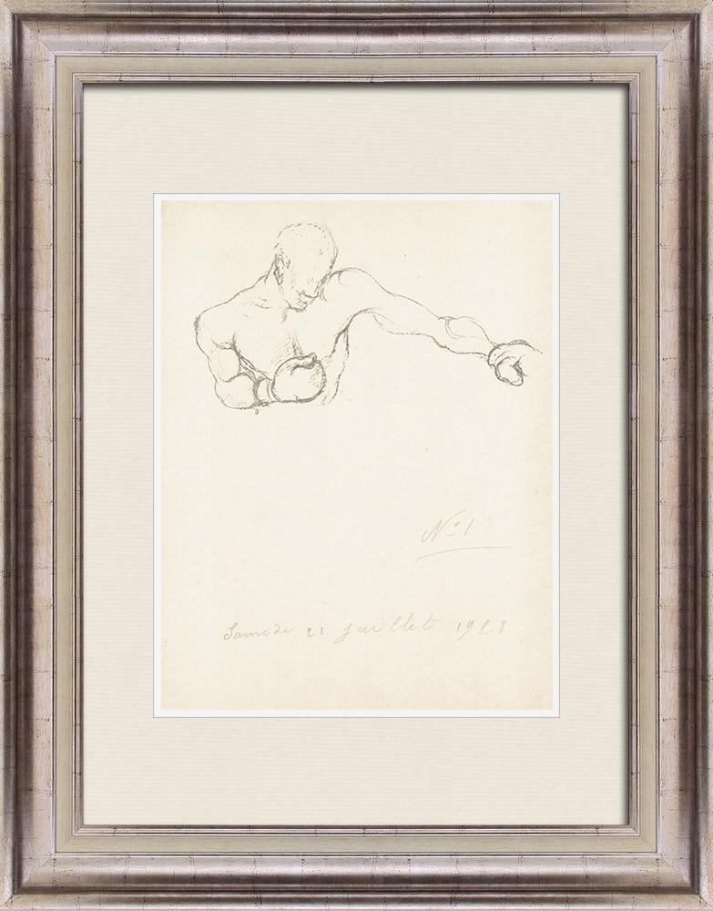 Gravures Anciennes & Dessins | Sport - Boxe 25/71 | Lithographie | 1928