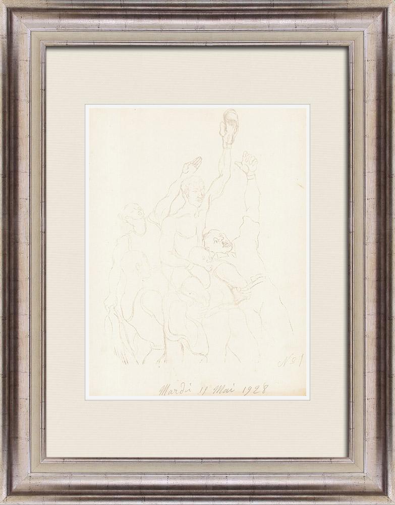 Gravures Anciennes & Dessins | Sport - Boxe 26/71 | Lithographie | 1928
