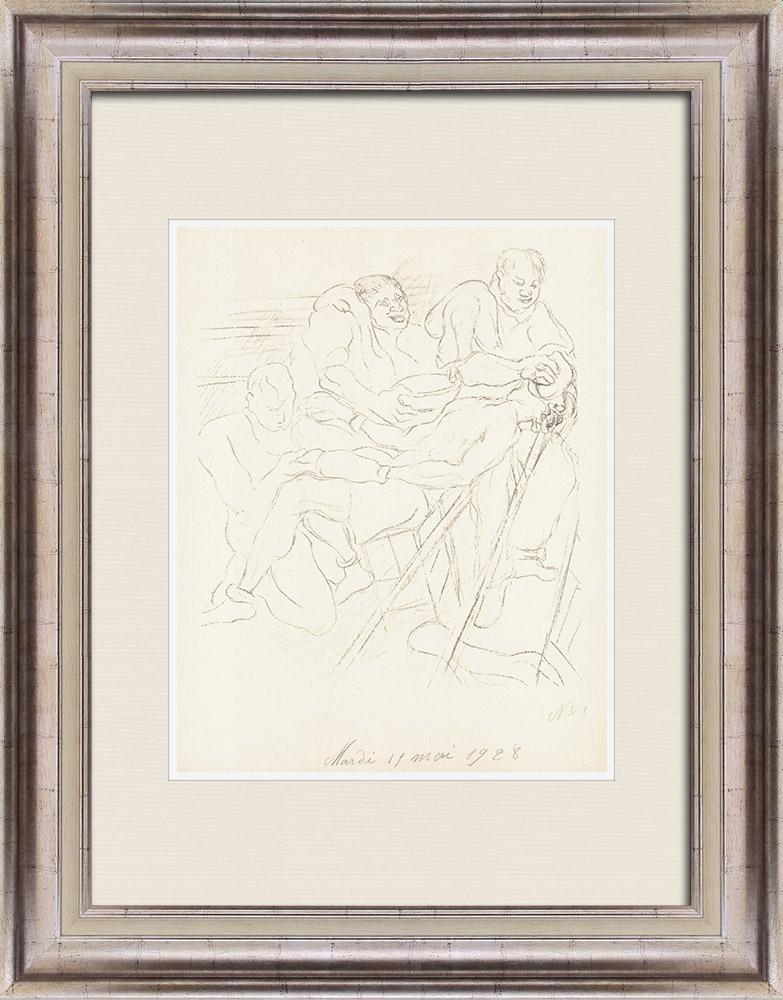 Gravures Anciennes & Dessins   Sport - Boxe 27/71   Lithographie   1928
