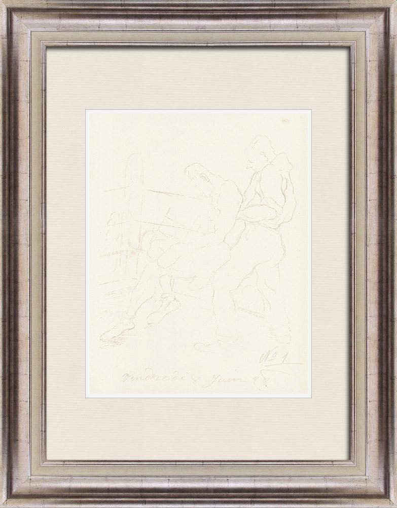 Gravures Anciennes & Dessins   Sport - Boxe 32/71   Lithographie   1928