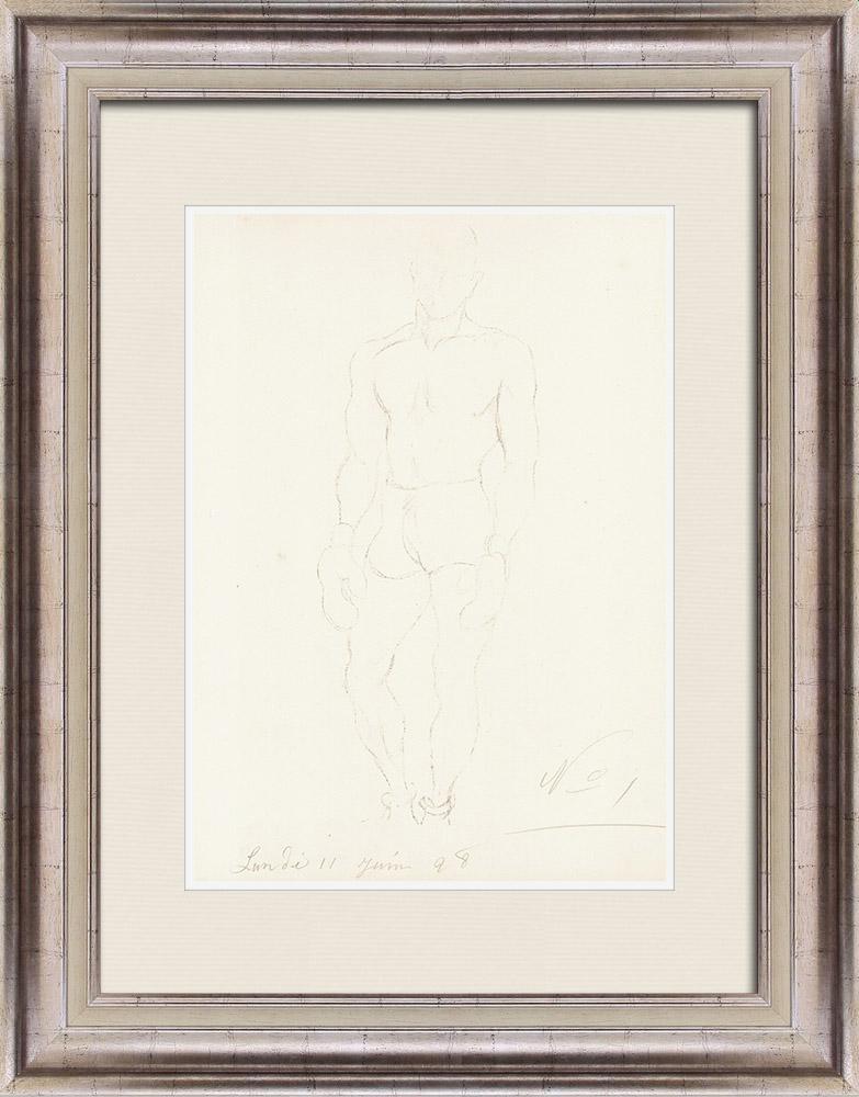 Grabados & Dibujos Antiguos | Deporte - Boxeador - Boxeo 33/71 | Litografía | 1928