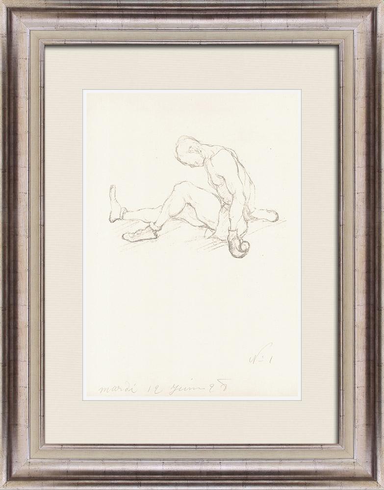 Gravures Anciennes & Dessins   Sport - Boxe 35/71   Lithographie   1928