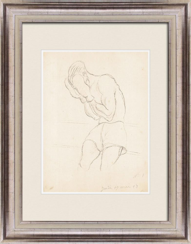 Gravures Anciennes & Dessins   Sport - Boxe 36/71   Lithographie   1928