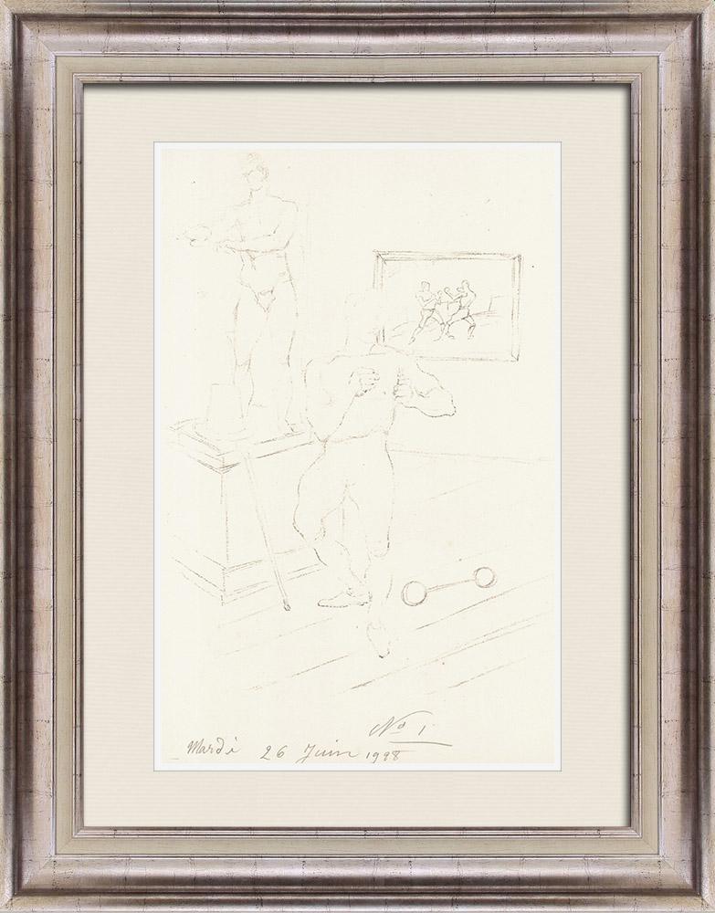 Gravures Anciennes & Dessins | Sport - Boxe 45/71 | Lithographie | 1928